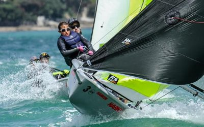 Fresh winds test crews at the 2020 RS Feva Nationals at Wakatere