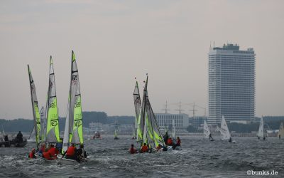 RS Feva World Championships Day 1 – from Dutch Coach Tijmen Beemster